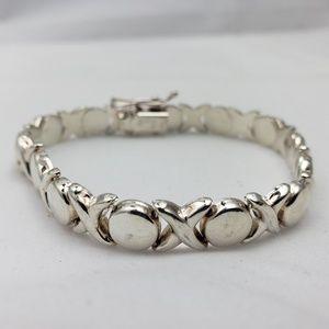 Silver Hugs & Kisses XOXO Bracelet 16.2 g